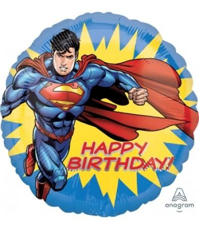 [SUPERMAN] 18inch HAPPY BIRTHDAY Superman Foil Balloon