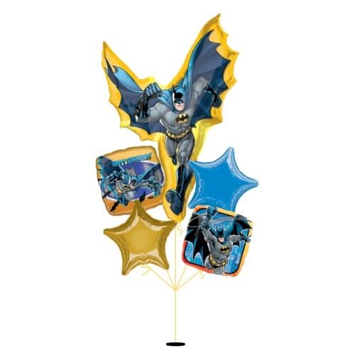 [Batman] Action Shape Happy Birthday Balloon Bouquet