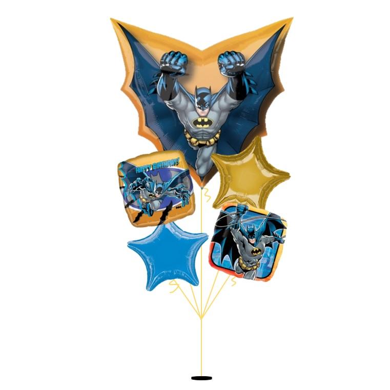 [Superman] Emblem Happy Birthday Balloon Bouquet