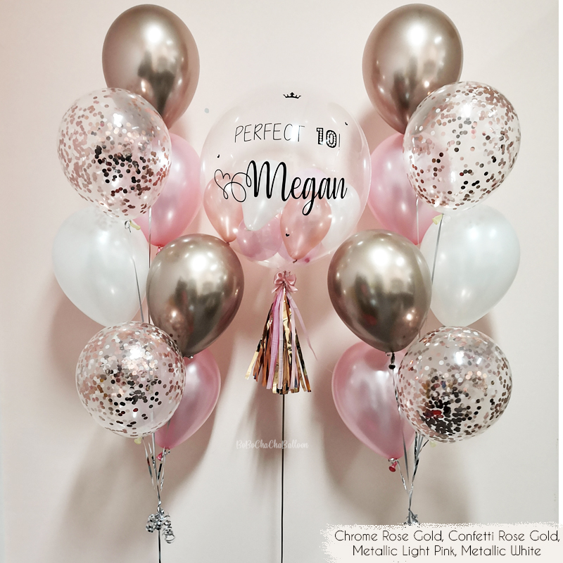 Light Pink Bubble Balloon Weight Pack of 5