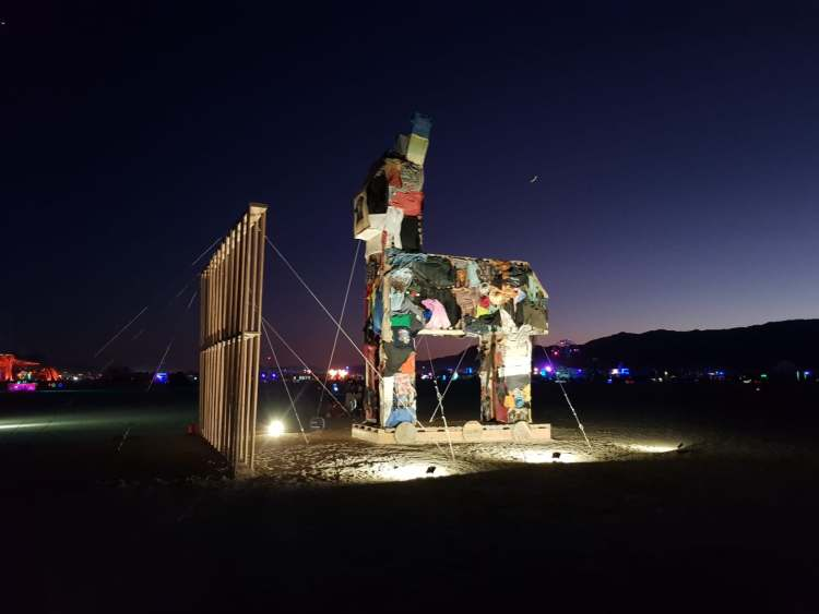 """The Wall"", Burning Man 2019. Courtesy Tom Herck"