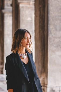 Valeria Boncompagni foto di @ItsMartaEffe a Piazza San Marco per Venice Fashion Week 2020