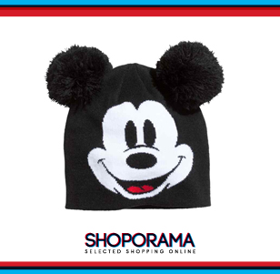 Berretto in maglia Mickey Mouse, H&M fun fashion shoporama.it bobos.it