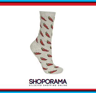 Calze corte, con peperoncini, Topshop fun fashion shoporama.it bobos.it