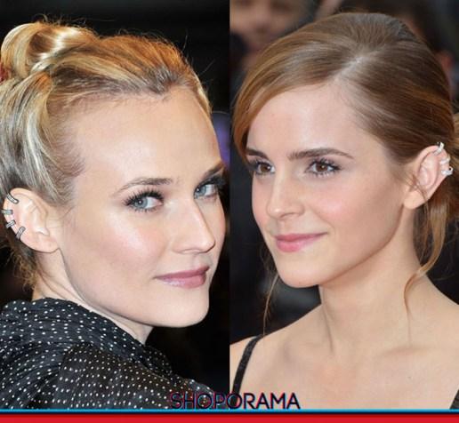 Diane Kruger - Emma Watson, mono orecchino,earring,Repossi