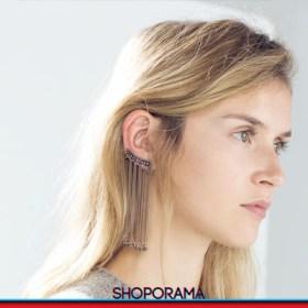 Mono earring bijoux Zara catenelle dorate