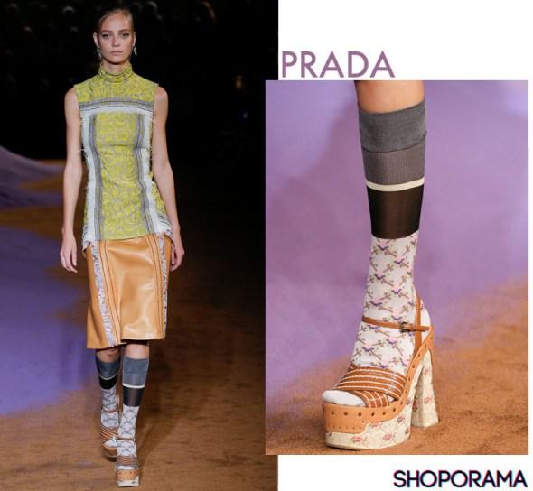Prada,Tendenza calzino,socks,Shoporama,