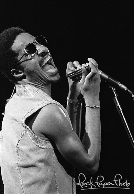 Stevie Wonder by Tom Zimberoff