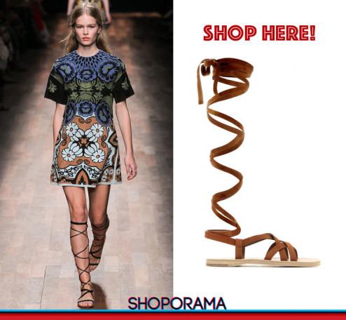 Valentino SS2015, Miu Miu gladiators,sandali,shoes,shoporama,shopping,