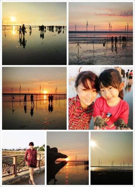 【台灣旅遊】台中景點。高美濕地的美麗夕陽