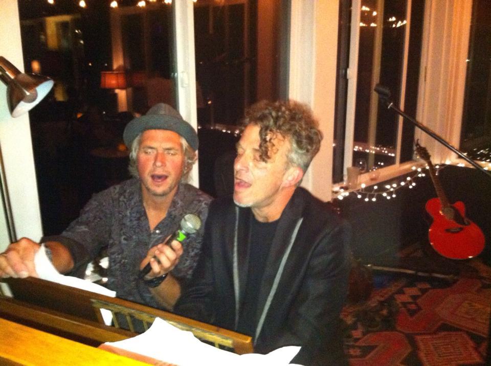 Warren Meier and Bob Paltrow @ Ott & Murphy's Winery Tasting Room, Langley WA