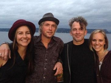 Luminous Skye (l to r) Kelly Holmes, Warren Meier, Bob Paltrow, Bekah Zachritz @ Ott & Murphy's Winery Tasting Room, Langley WA