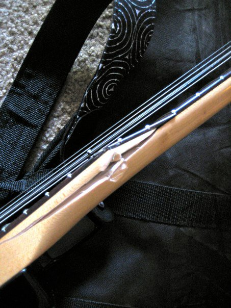 The bottom of the neck