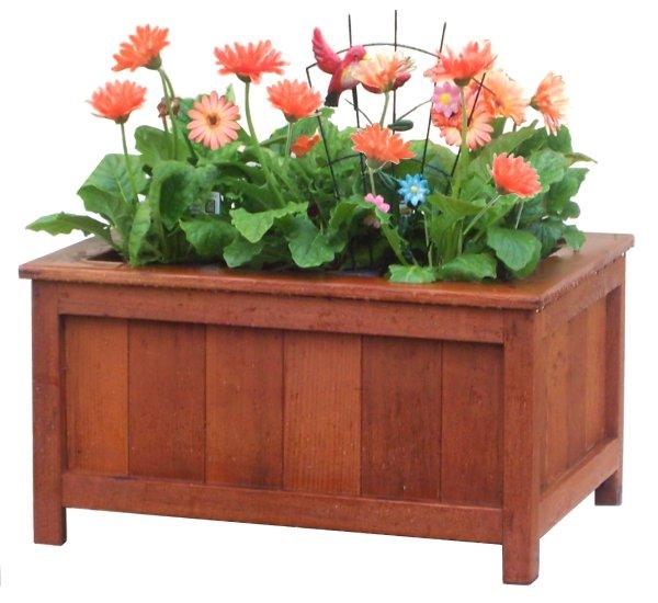 Planter Box Plans: Build DIY Patio Garden Planter Box Plans PDF Plans Wooden