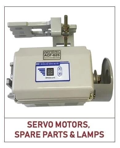 Artisan Sew Servo Motors, Spare Parts, Lamps