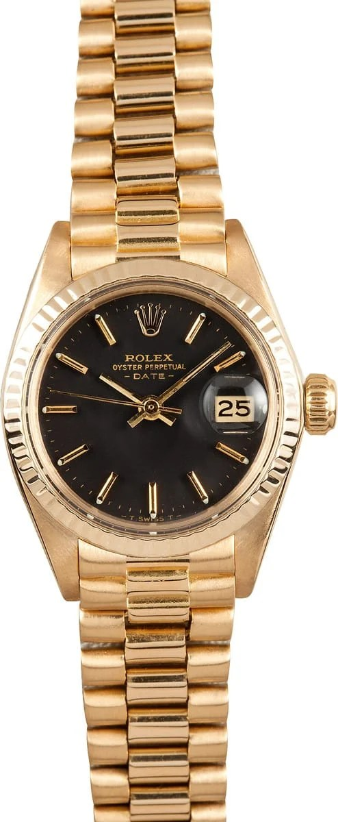 Pre Owned Rolex Ladies President Watch 6917 Bobs Used
