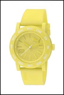 Yellow Puma Wrist Watch