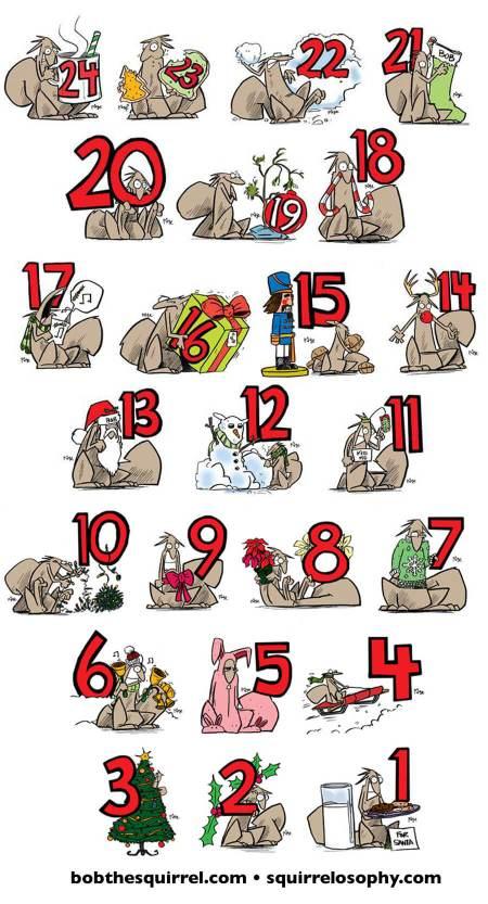 Bob the Squirrel Christmas Countdown 2014