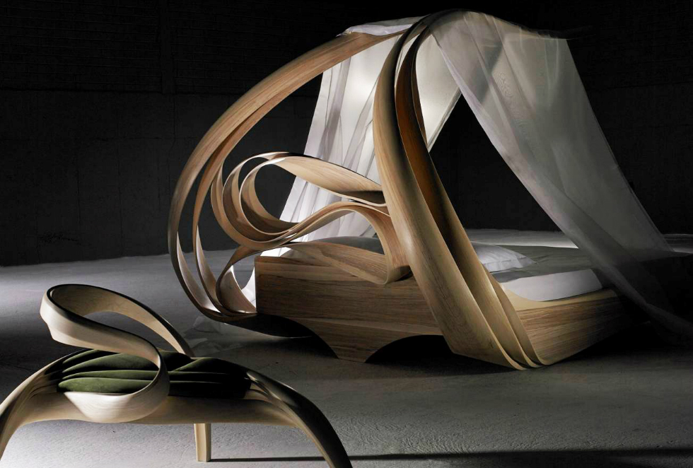 The Shocking Enignum Canopy Master Bed By Joseph Walsh