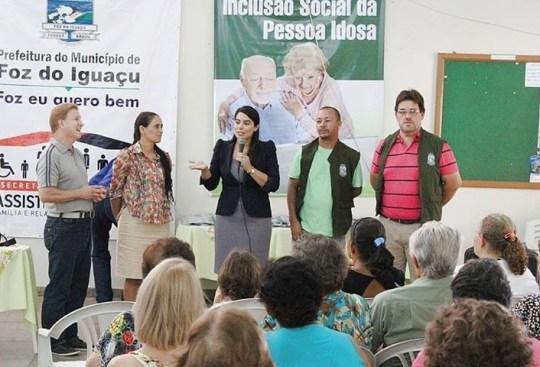 claudia pereira  Inclusão Social da Pessoa Idosa foz do iguaçu celepar