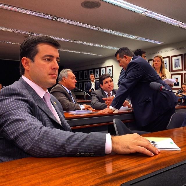 Deputado João Arruda durante a reunião em que foi escolhido vice-presidente da Comissão de Fiscalização Financeira e Controle da Câmara Federal