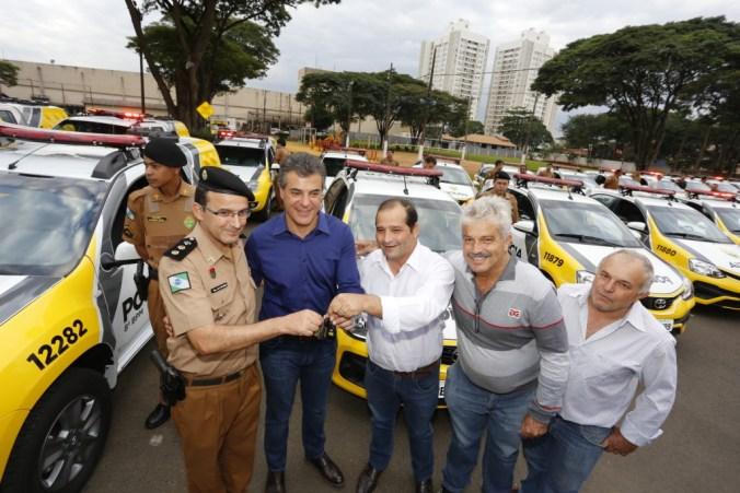 Governador Beto Richa entrega, em Maringá, mais 84 viaturas para reforçar a frota da Polícia Militar do Paraná no Noroeste do Estado. Maringá, 30/06/2017. Foto: Arnaldo Alves