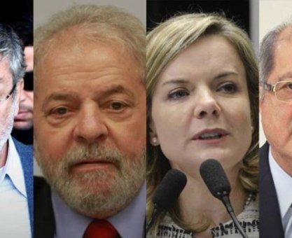 PGR denuncia Lula, Palocci, Gleisi e Paulo Bernardo por corrupção