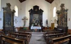 Chiesa dell'Annunziata di Arquata del Tronto (AP), con il Crocifisso del Santissimo Salvatore.