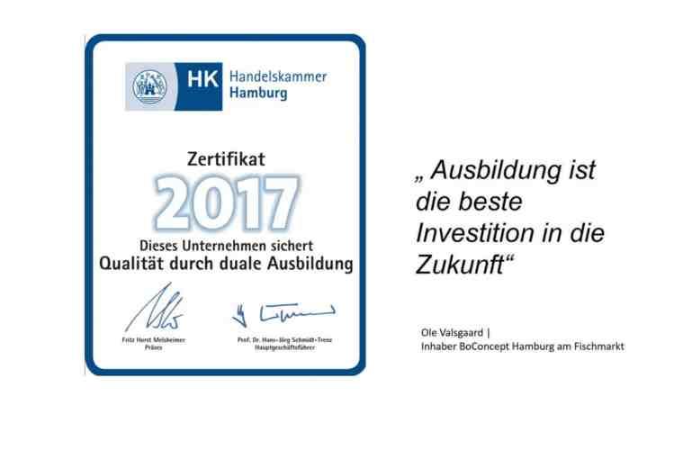 Ausbildung | BoConcept - experience Hamburg am Fischmarkt