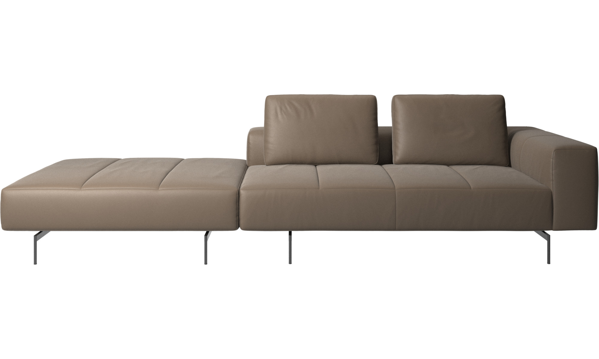 amsterdam sofa with footstool on left side