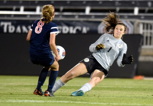 Jefferson Academy goalkeeper Brooklynn Kirkpatrick has ...