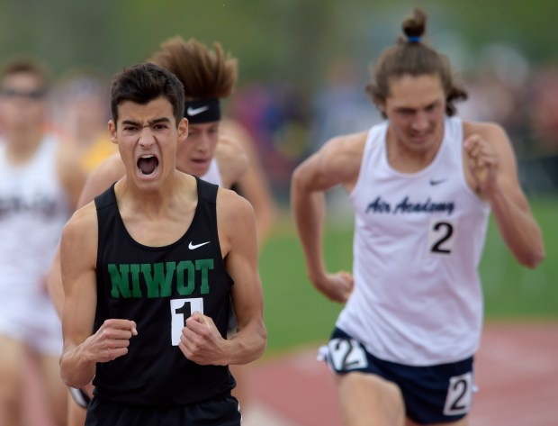 Niwot's Cruz Culpepper celebrates as he ...