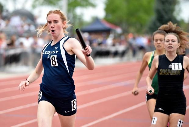 Legacy High School's Madelyn Stevens crosses ...