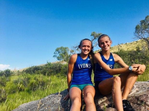 Lyons cross country runners Katie Fankhouser, ...