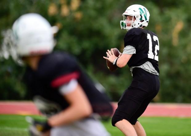 Niwot High School's quarterback Ayden Bartko ...