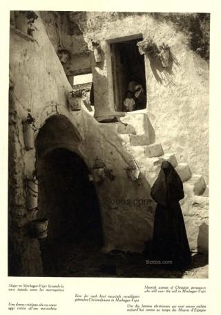 Mujer de Mochacar-Vejer con la cara tapada como las marroquinas