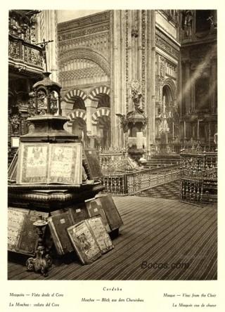 interior de la Mezquita visto desde el coro