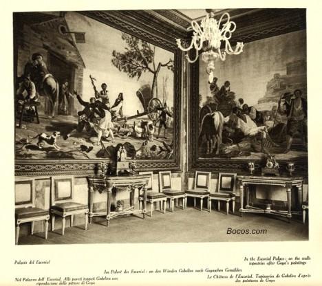 tapices de Goya en el Escorial