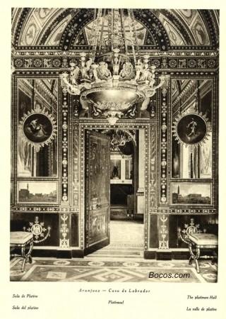 sala de platino del Palacio de Aranjuez