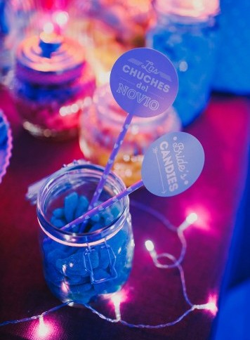 iluminación candybar personalizada www.bodasdecuento.com
