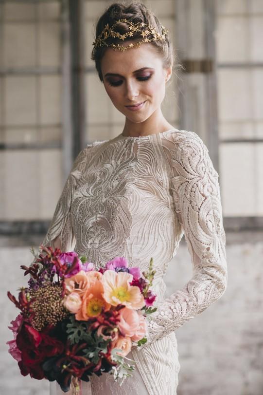 ramo novia colores vivos www.bodasdecuento.com