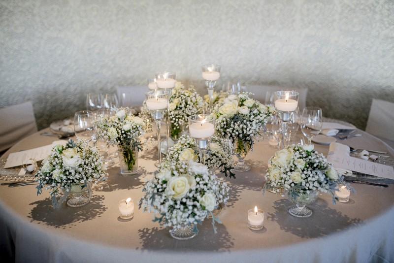 decoración mesa paniculata www.bodasdecuento.com