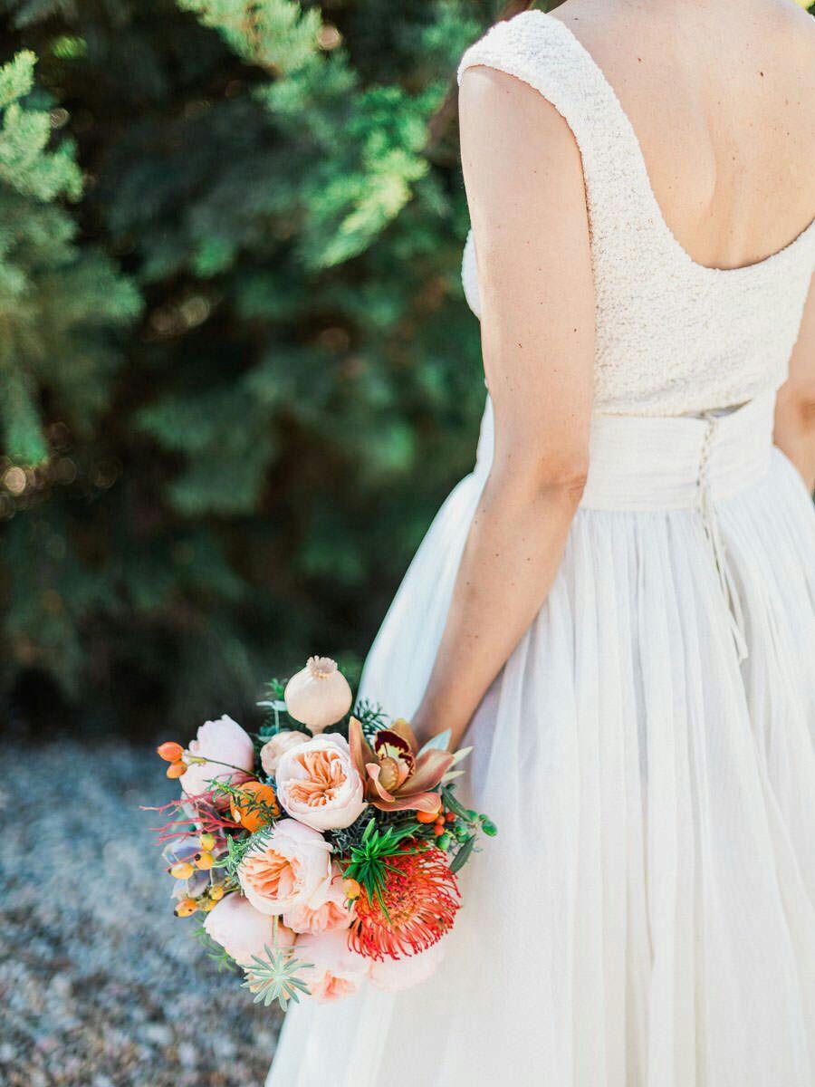 vestido novia dos piezas www.bodasdecuento.com