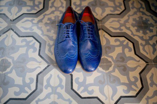 zapatos novio azules www.bodasdecuento.com