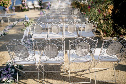 sillas forja ceremonia boda www.bodasdecuento.com