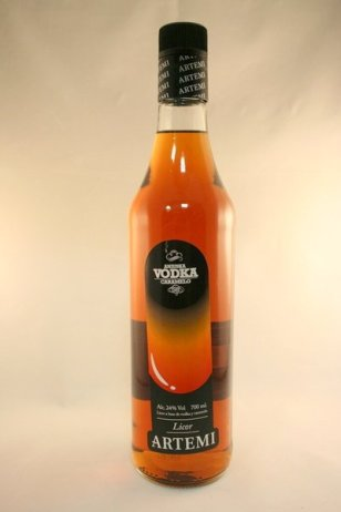 Vodka Caramelo Artemi Aniuska en Bodecall