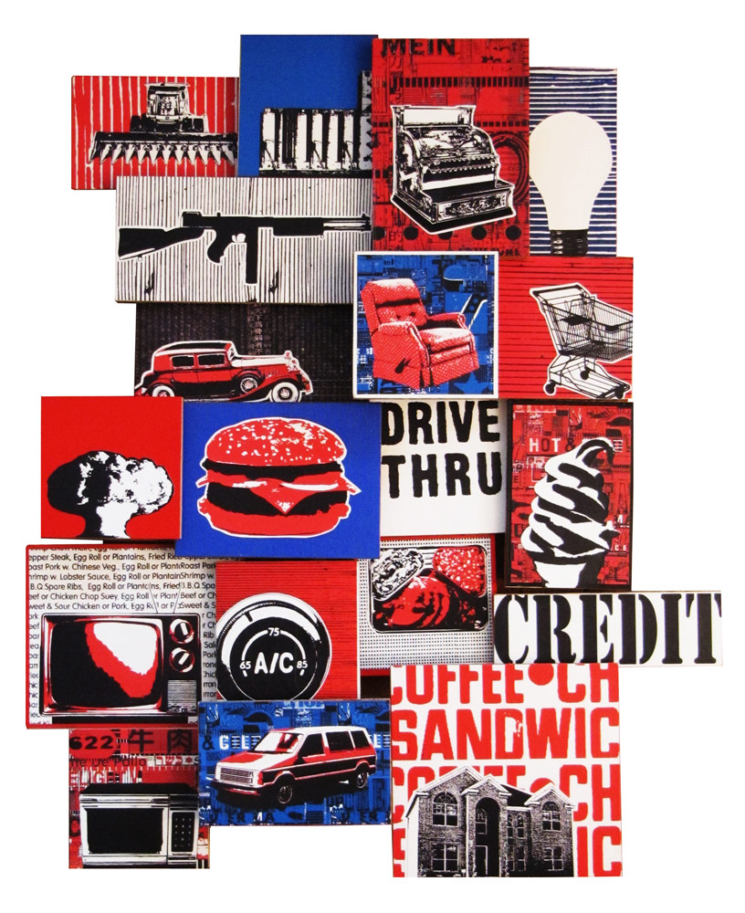 American inventions of the 20th century, collage by Josh Goldstein