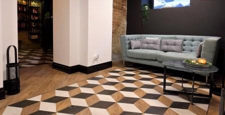 Designflooring Kaleidoscope Designboden Designflooring Berendowicz & Kublin barbers Kaleidoscope Cube