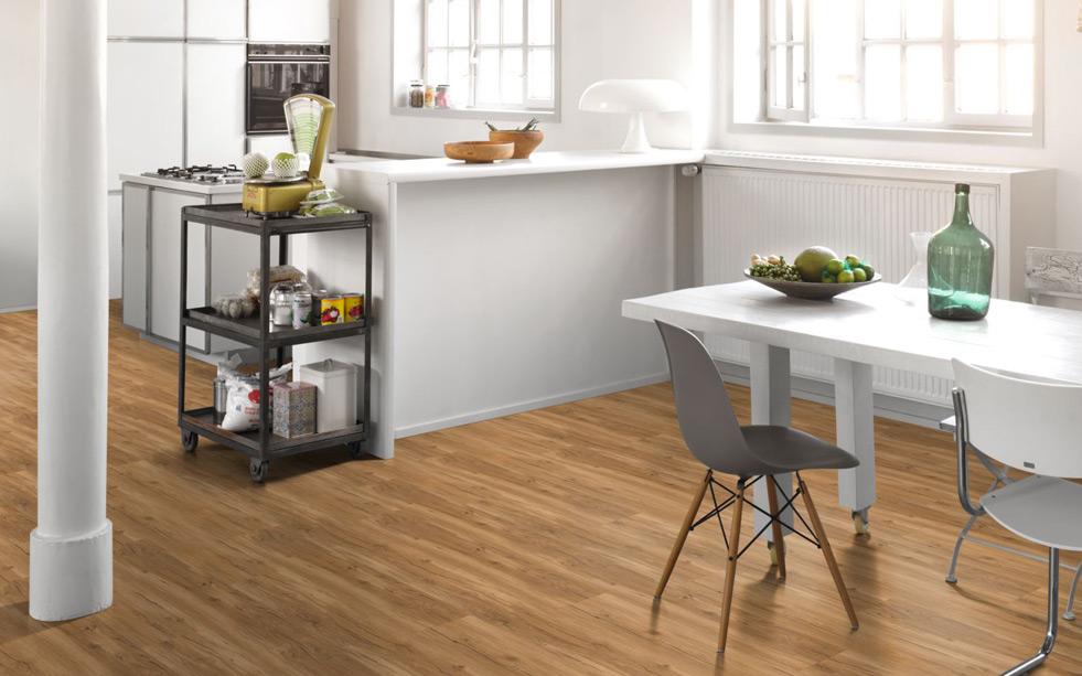 Parador Classisc 2070 Click Rigid SPC Designboden Eiche Memory natur - Renovierung direkt auf alte Fliesen in der Küche