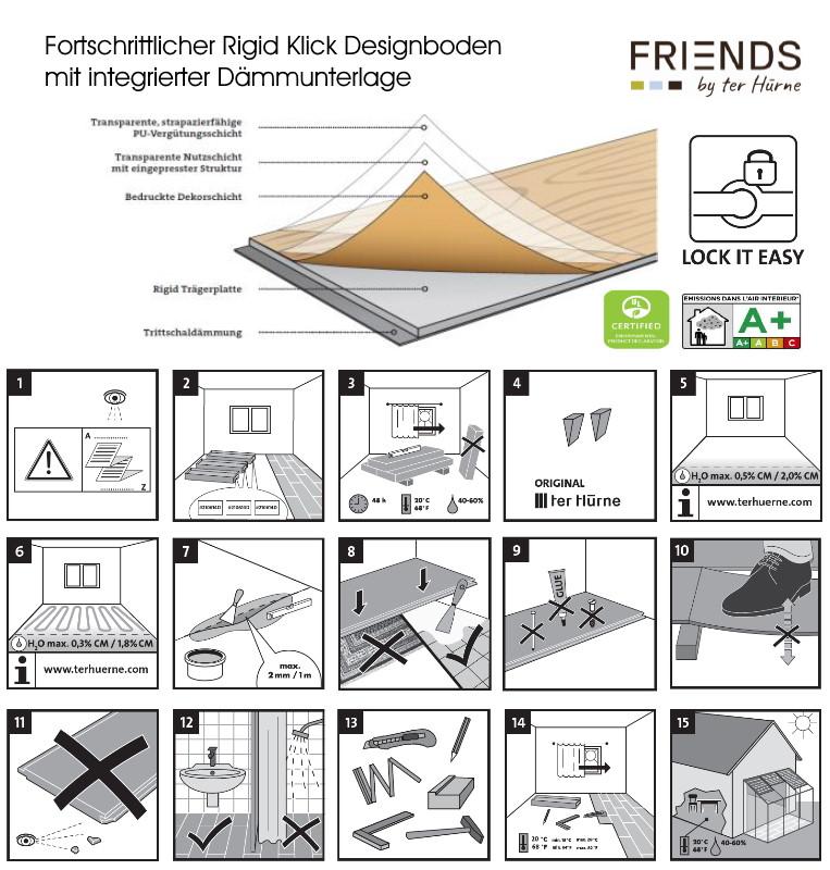 FRIENDS by ter Hürne Rigid-Klick-Designboden Produktaufbau
